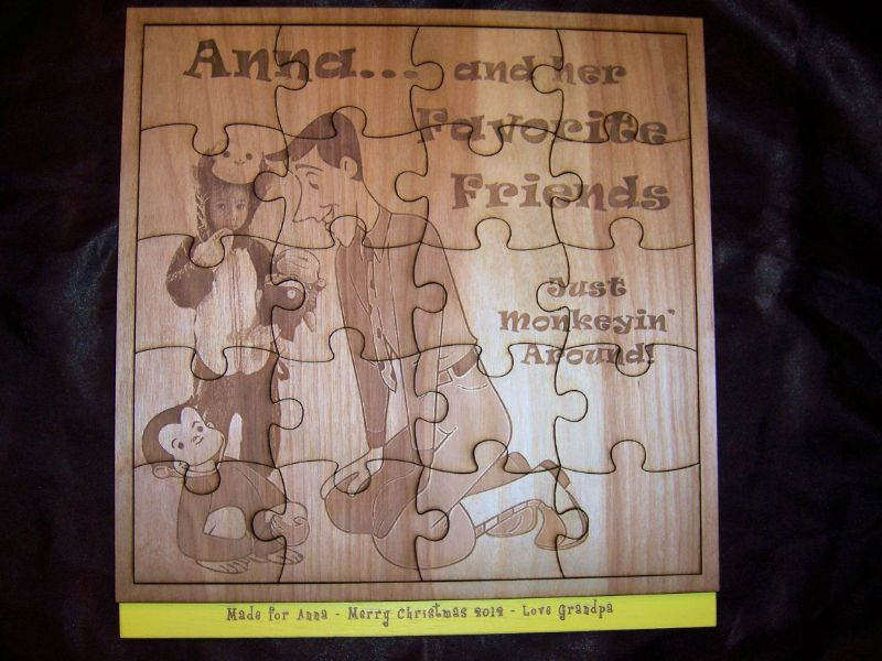 Personalized jigsaw puzzle. Laser engraved puzzle can make your ...