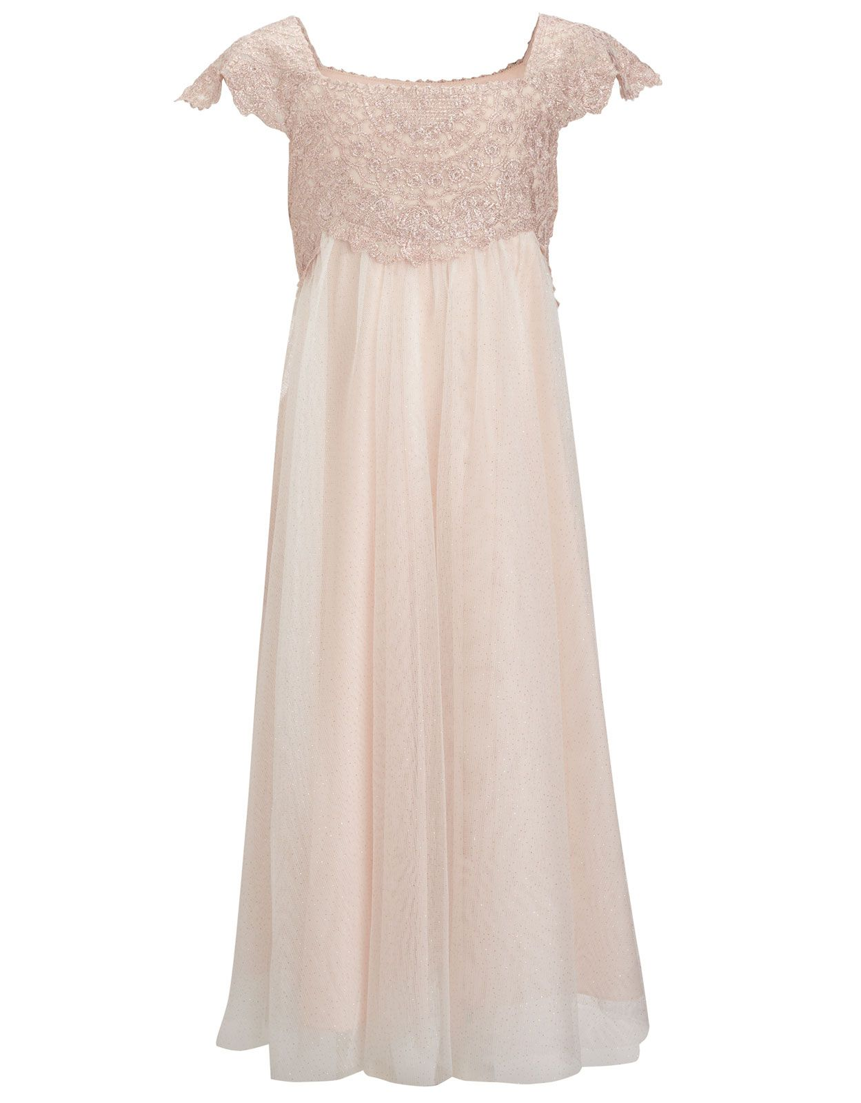 Estella Lace Sparkle Dress | Pink | Monsoon | flower girls and Jr ...