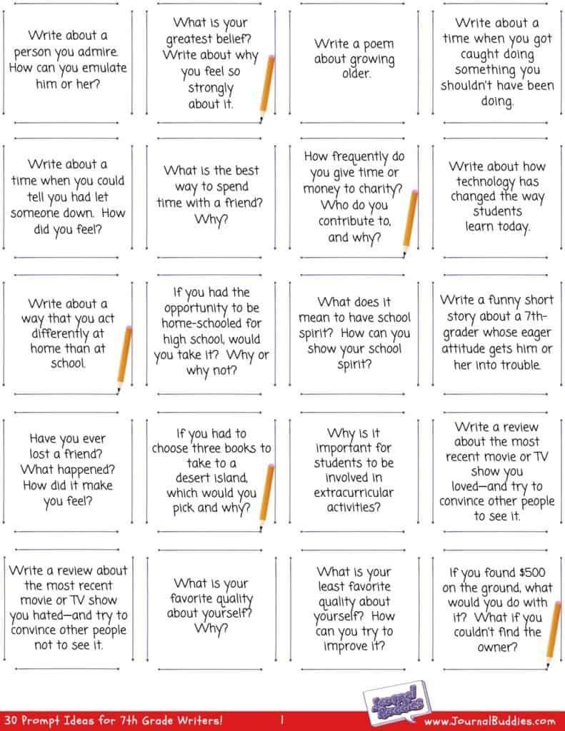 7th Grade Writing Worksheets Writing Worksheets 7th Grade Writing Language Arts Worksheets [ 1024 x 791 Pixel ]