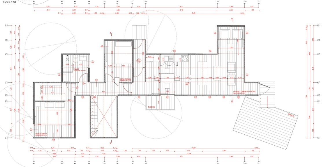 Gallery Of Yellow House Alejandro Soffia 26 Yellow Houses Woodland House Floor Plan Drawing Yellow house floor plan