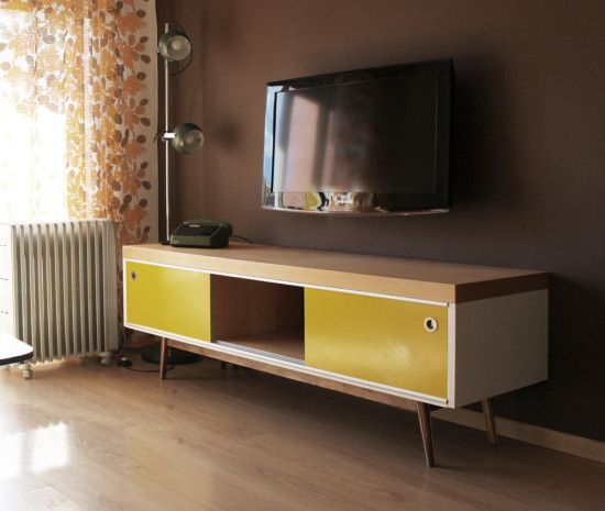 Old Ikea Lack Tv Furniture Hacked Into Vintage Style Meuble Decoration Interieure Interieur