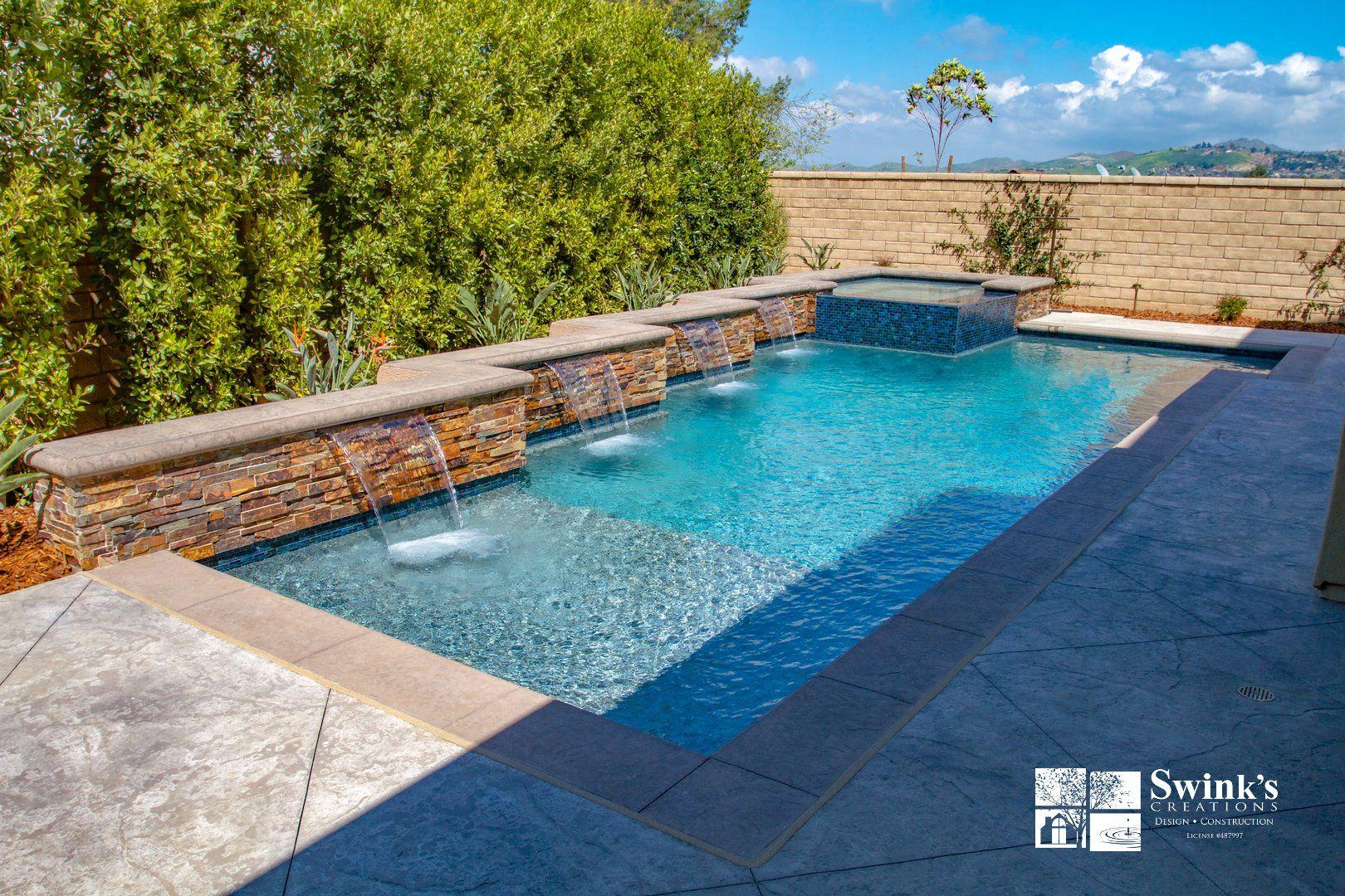 Geometric Shaped Pool Pool Pool Photos Swimming Pools Backyard