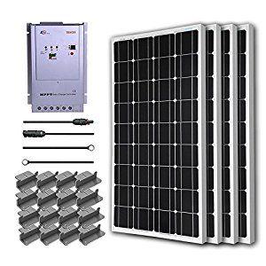 Renogy 400 Watt 12 Volt Monocrystalline Solar Starter Kit W 40a Mppt Charge Controller Portable Solar Panels Solar Kit Solar Panel Kits