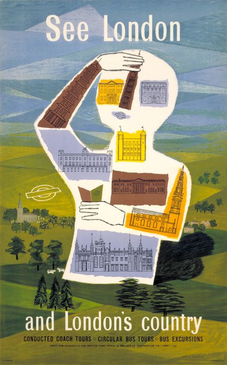 London Transport poster 1954, Sheila Stratton