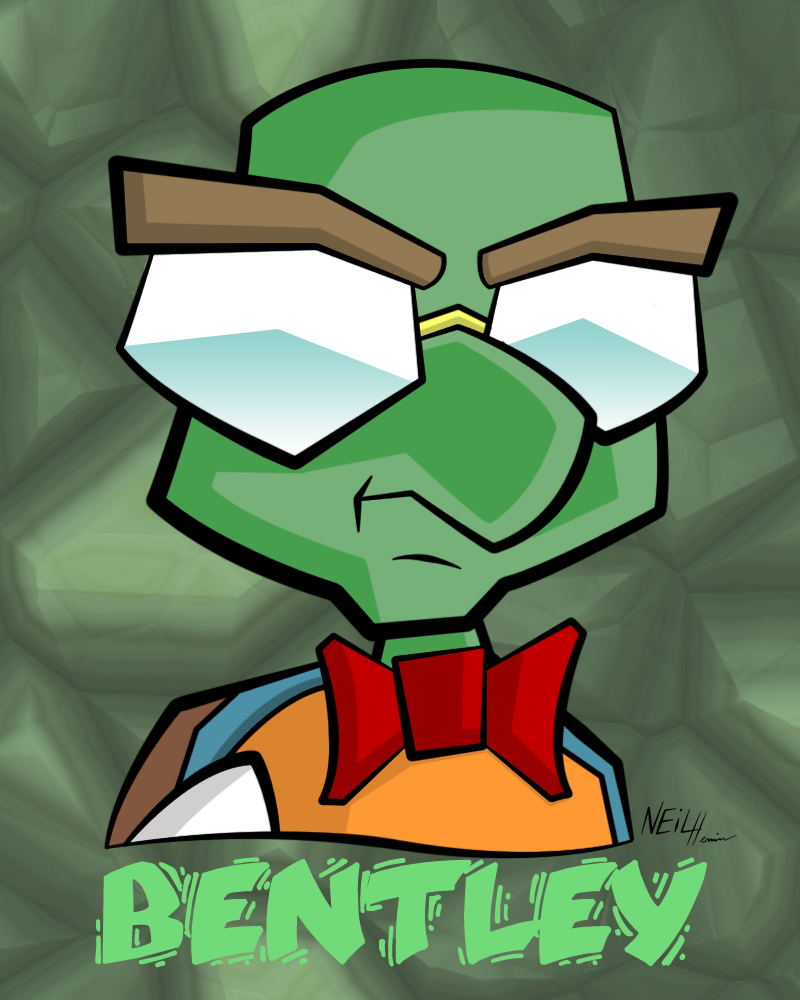 """bentley from """"sly cooper"""" - headshot 