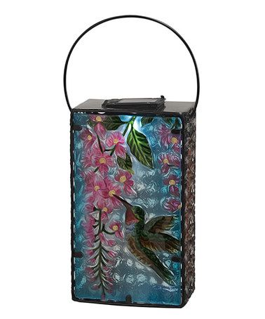 hummingbird wisteria metal glass tin solar lantern lanterns creative ways to hang outdoor lights