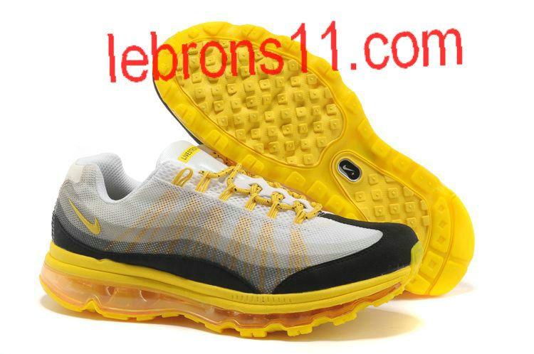 on sale 640f5 c2821 Mens Nike Air Max 95 360 White Black Yellow Shoes
