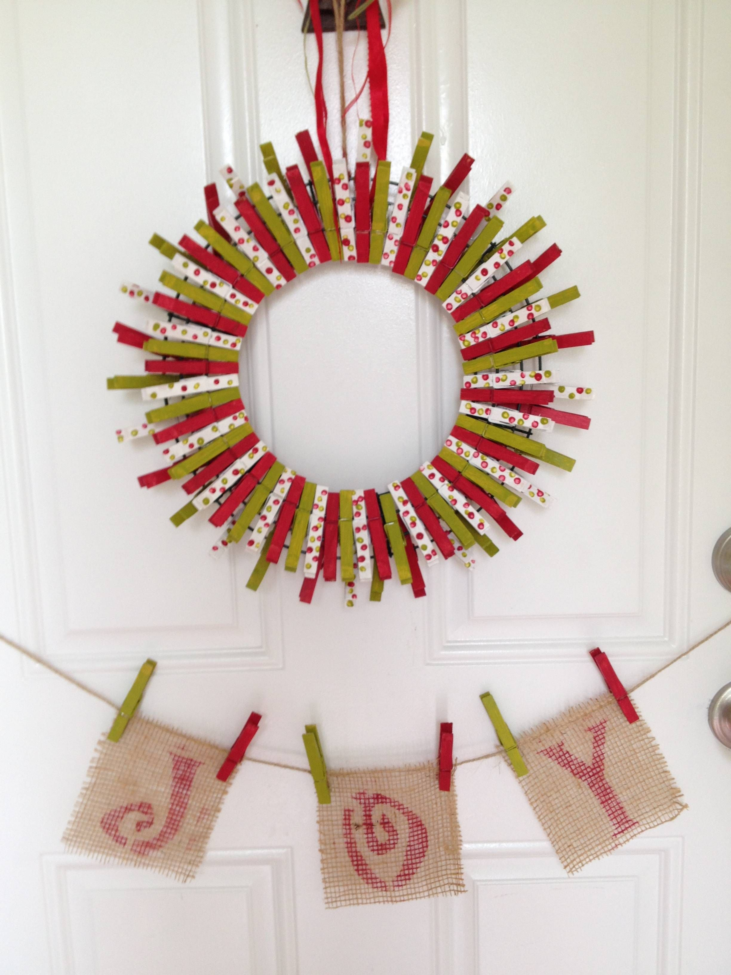 Holiday Clothes Pin Wreath: Festive and Fun Project | The Home Depot ...