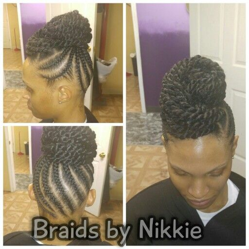 Women's braids Located in Cincinnati Ohio call 5136469355 for booking and pricing.