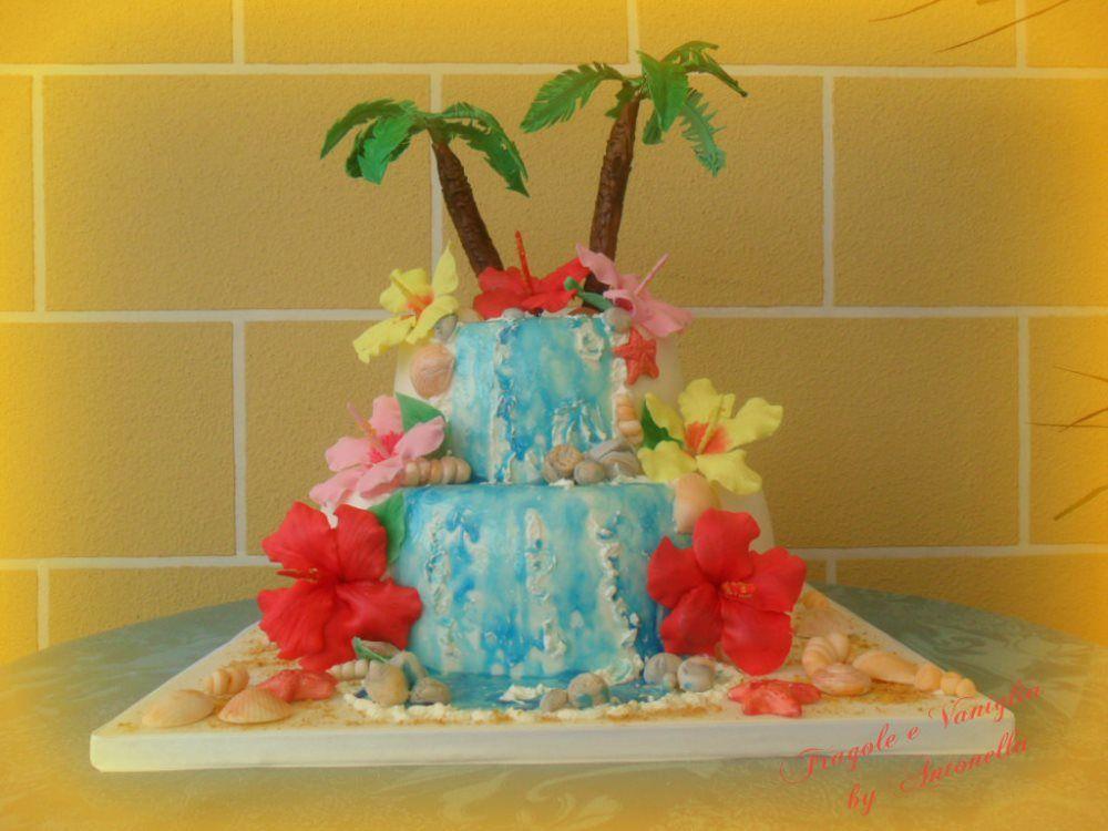 Matrimonio Tema Hawaiano : Torta diciotto anni a tema hawaiano y tortilla