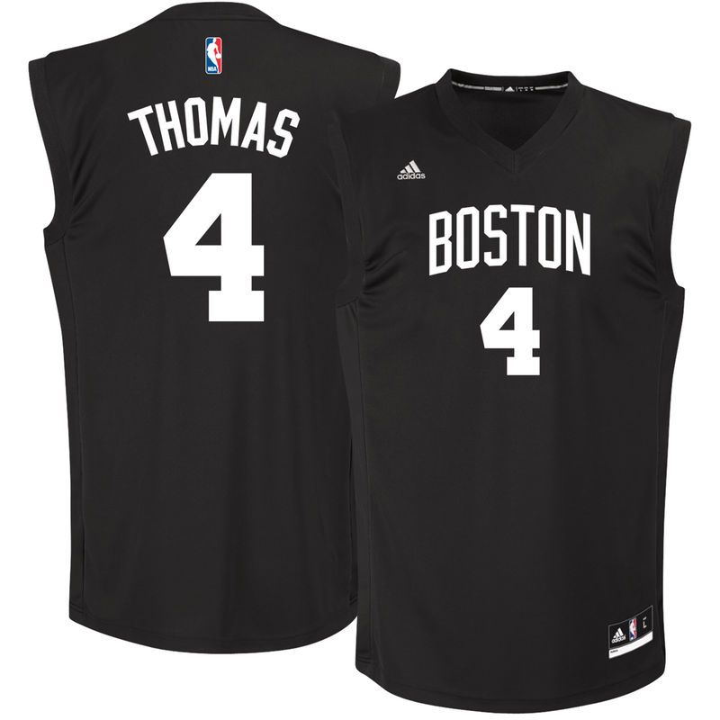Isaiah Thomas Boston Celtics adidas Chase Fashion Replica Jersey - Black