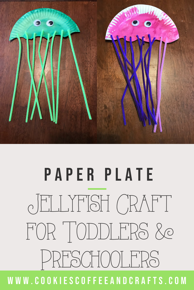 Paper plate jellyfish craft perfect for preschoolers