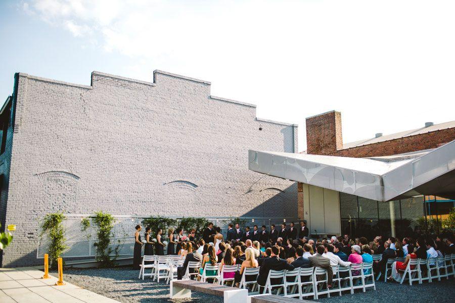 Modern Wedding Cam Raleigh Chevron Coral Gray Museum of