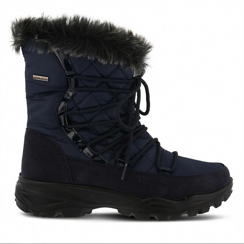bbaa5cf5938f Flexus Womens Denilia Snow Boots Waterproof Flat Heel Zip  snowboots ...