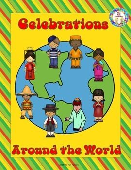 Celebrations around the world informational text crafts for Holidays around the world crafts