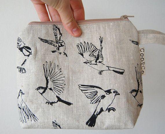 Interesting bag, birds in flight.