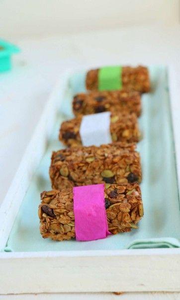 Krokante granola repen - Lekker eten met Linda