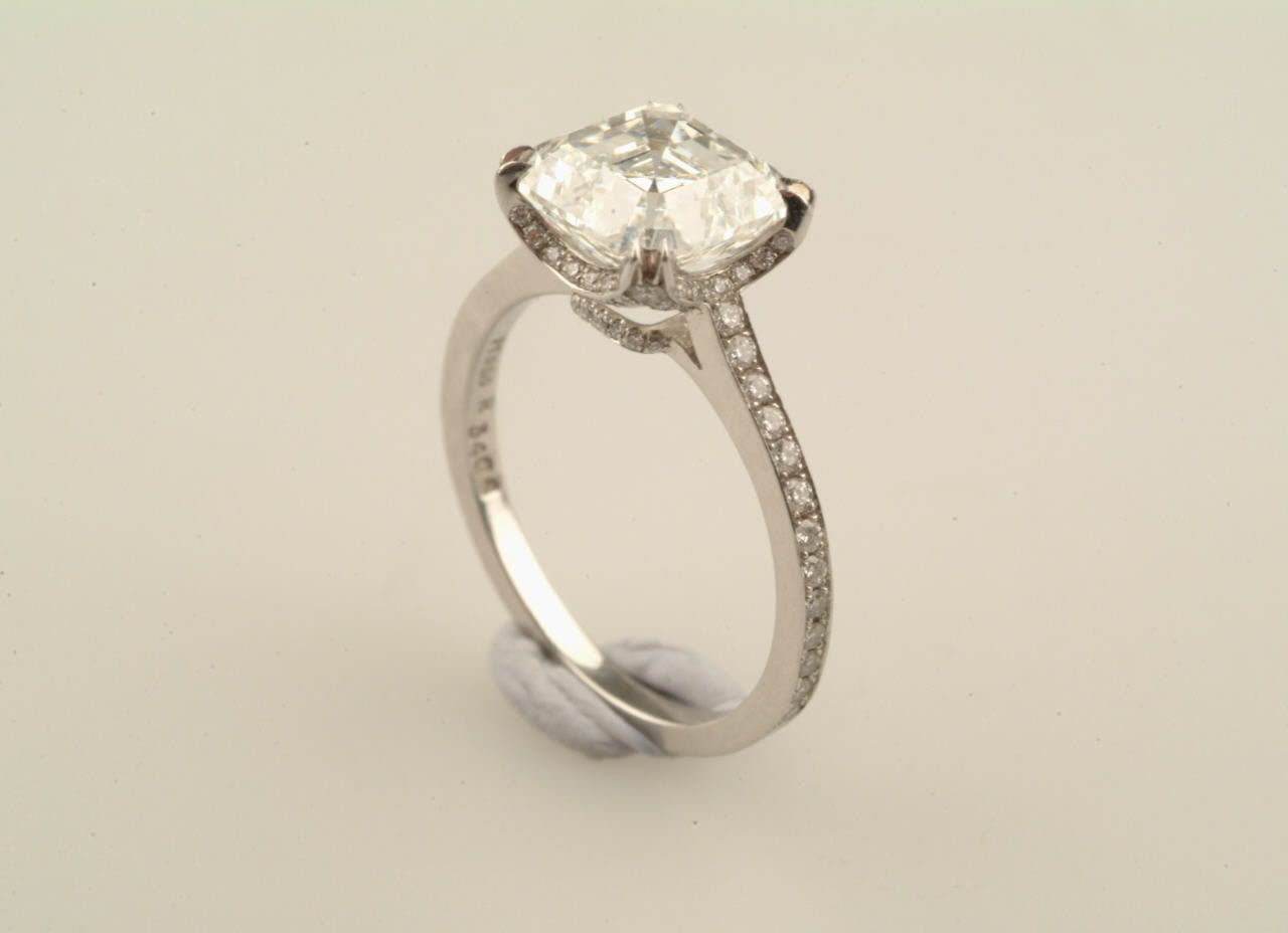 Small channel set diamonds and small halo diamonds