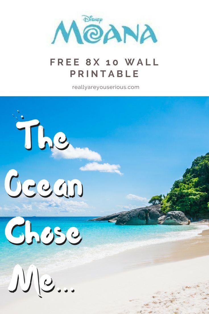 Moana free printable moana and ocean