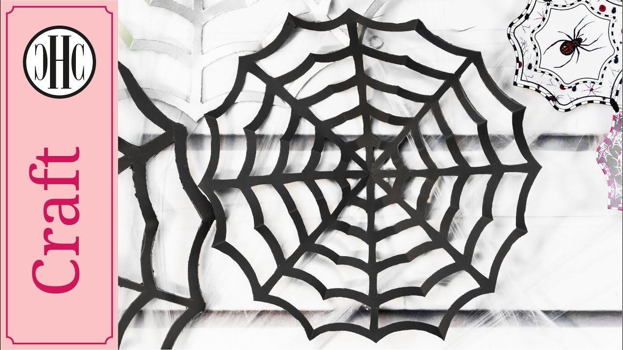 Diy Paper Spider Web Décor Free Template Country Hill Co