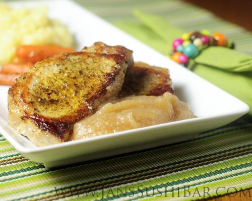 Pork Chops And Applesauce Boneless Pork Loin Chops Warmly Spiced Lightly Pan Fried And Served With Homemade Applesauce