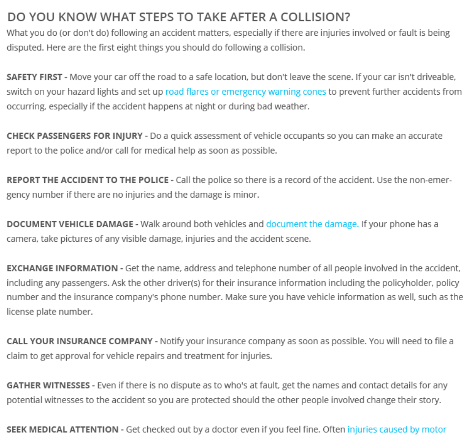 Do You Know What To Do After A Collision Anytime You Have A