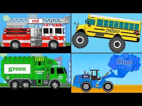 Learning Colors Collection Vol 1 Learn Colours Monster Trucks Fire Engines Garbage Kids Learning Videos Science Videos For Kids Learning Websites For Kids