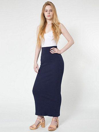 American Apparel - Interlock Long Skirt