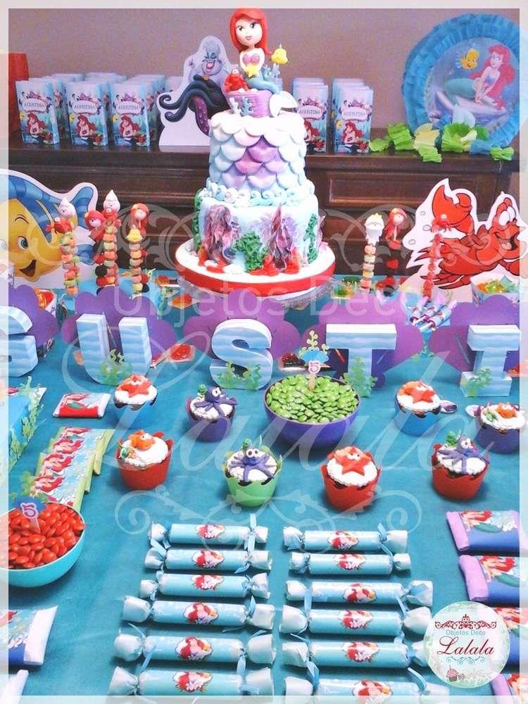 Sirenita Ariel Birthday Party Ideas Ariel Birthday Party Mermaid Birthday Party Birthday Parties