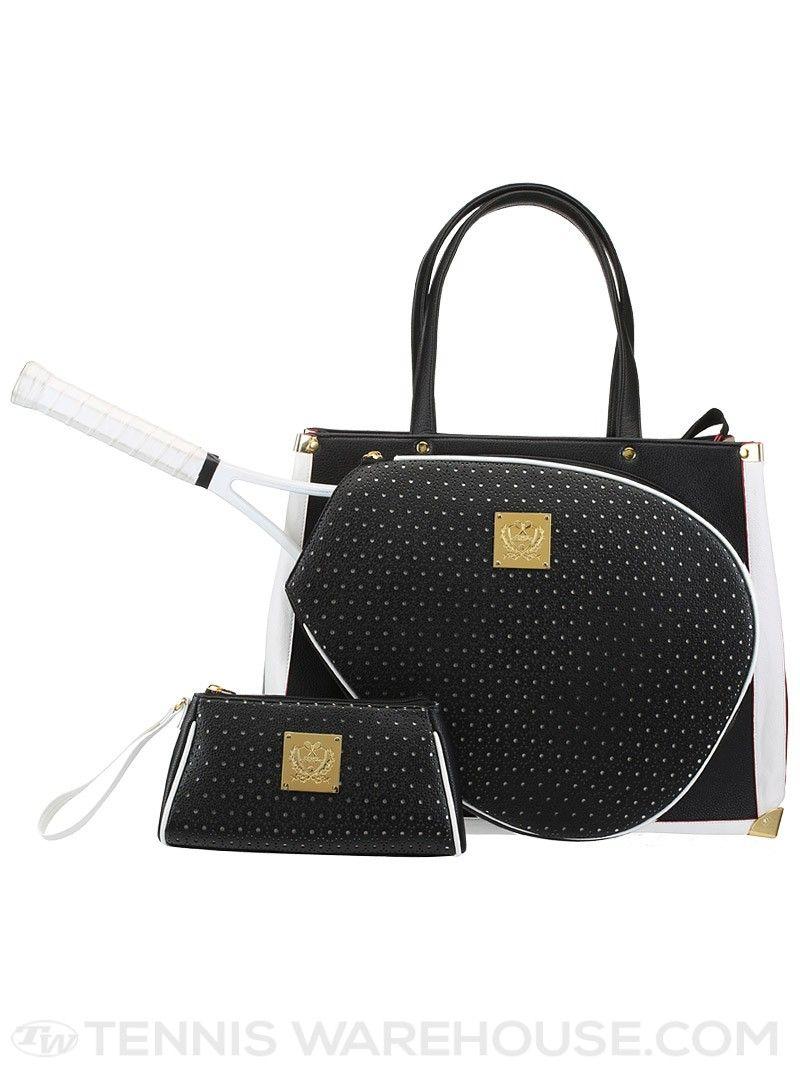Court Couture Vintage Karisa Perforated Bag Black