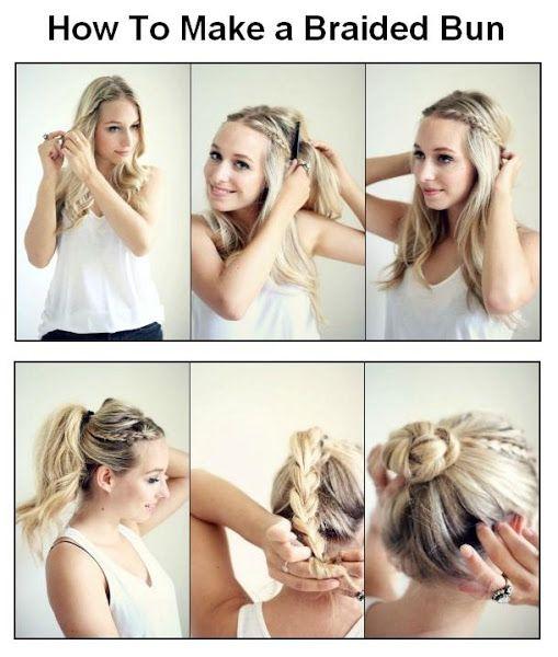 How to make a braided bun hairstyles tutorial hair pinterest how to make a braided bun hairstyles tutorial solutioingenieria Images