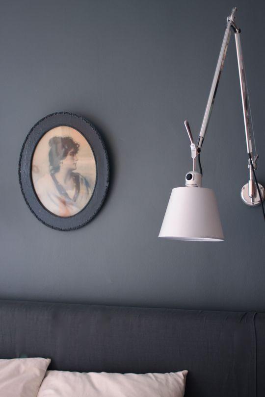 Three gorgeous grays throughout this house:   Benjamin Moore: Sterling  Benjamin Moore: Blue Springs  Benjamin Moore: Rocky Coast