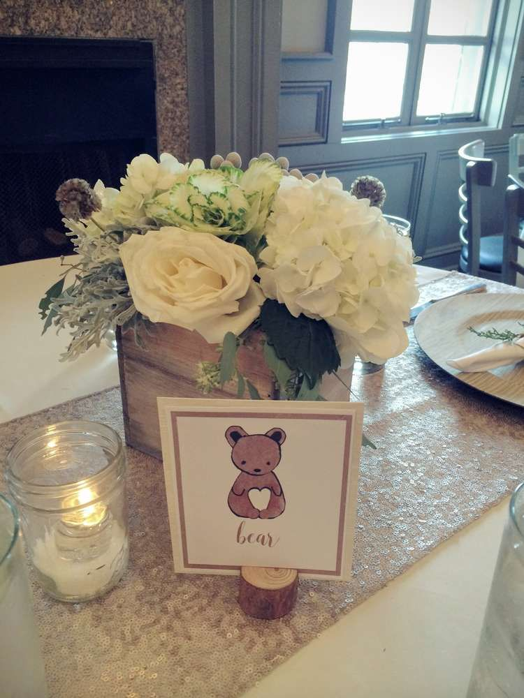 Woodland Animals Baby Shower Party Ideas Baby Shower Flowers