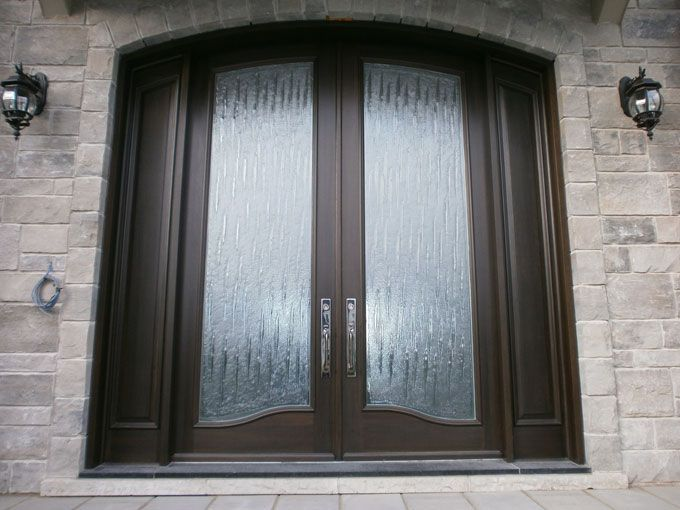 Exterior Wood Doors Glass Portes Dentre En Bois Portes