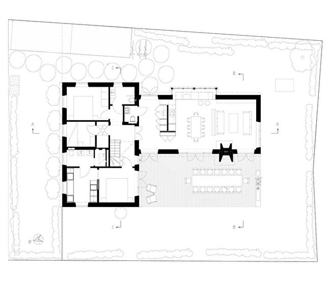 Plan 0 for villa in Skåne, Sweden Architecture drawing, 3dO - plan d appartement gratuit