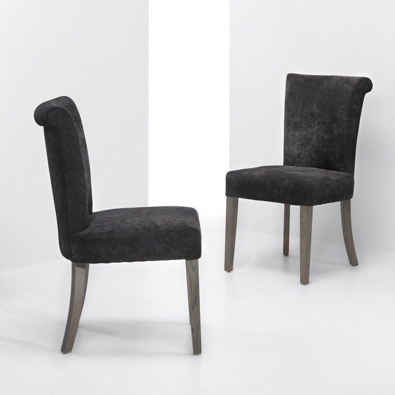 Paddington stol - Paddington spisebordsstol med sort stofbetræk. Betrækket har en nærmest velouragtig overflade, dog med kortere hår, der giver en dejlig siddefornemmelse.