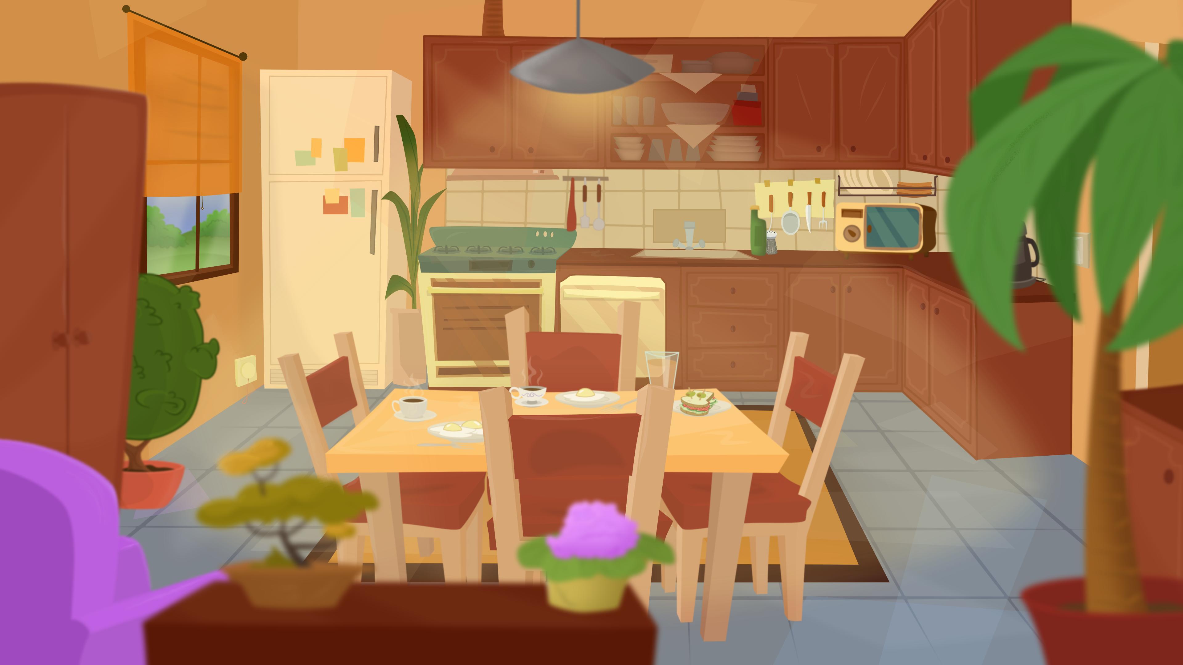 Cartoony Kitchen Illustration Illustration Family Guy Character