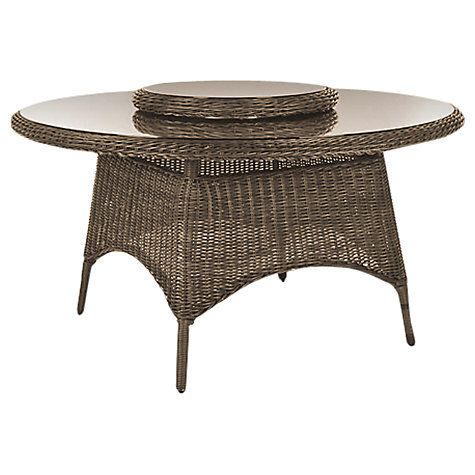 Buy Kettler Round 6 Seater Synthetic Wicker Outdoor Dining Tables ...