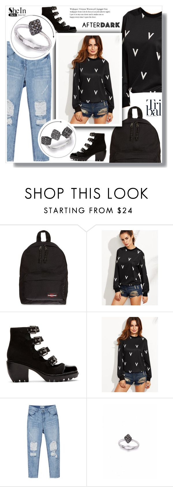 """""""1150"""" by melanie-avni ❤ liked on Polyvore featuring Eastpak and Opening Ceremony"""