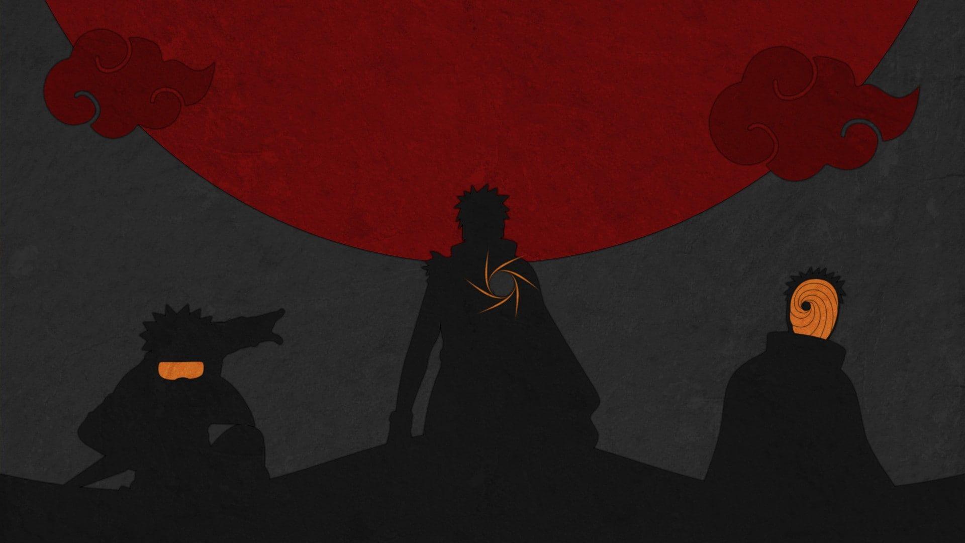 dark silhouette anime Naruto Shippuuden Uchiha Obito