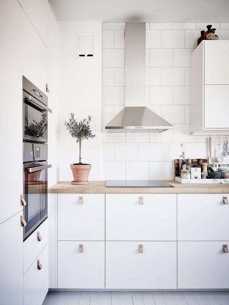 75 Admirable White Kitchen Design Ideas Https Pansydecor Info 75 Admirable White Ki Scandinavian Kitchen Design Wood Countertops Kitchen White Kitchen Design