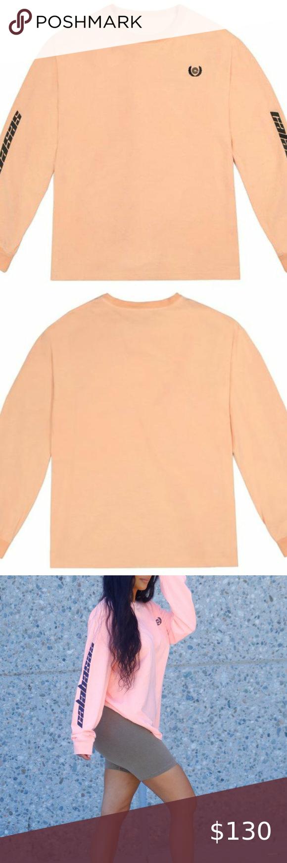 Yeezy Calabasas Neon Orange Long Sleeve