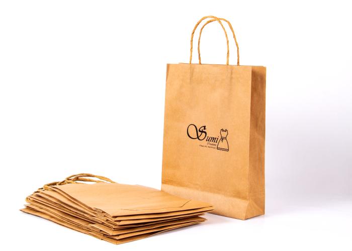 Brown Kraft Paper Bag Design Custom Economy Paper Bags Online Inkmonk Paper Bag Design Brown Kraft Paper Paper Shopping Bag