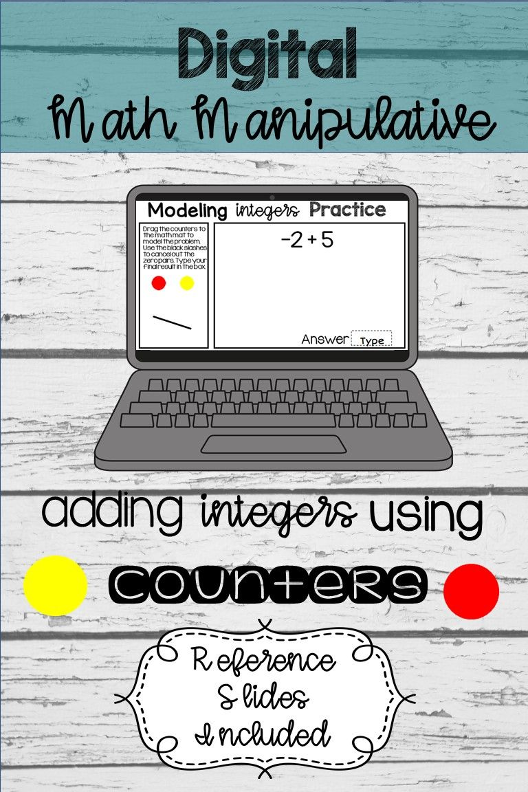 Adding Integers Using Counters Digital Distance Learning Integers Digital Activities Teaching Lessons Adding and subtracting integers escape