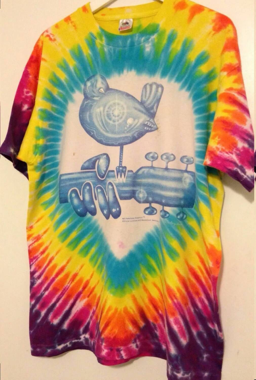 bf744620b5e13 Tie Dye Woodstock Festival Shirt XL | Vintage Band Tees | Festival ...
