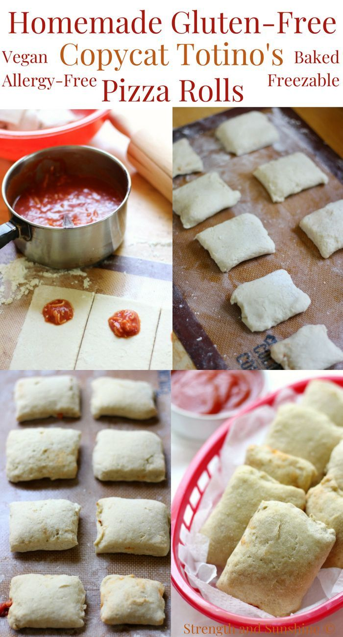Homemade GlutenFree Copycat Totino's Pizza Rolls (Vegan