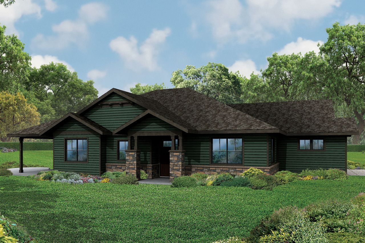 New Ranch House Plan Baileyville 30 976 By Associated