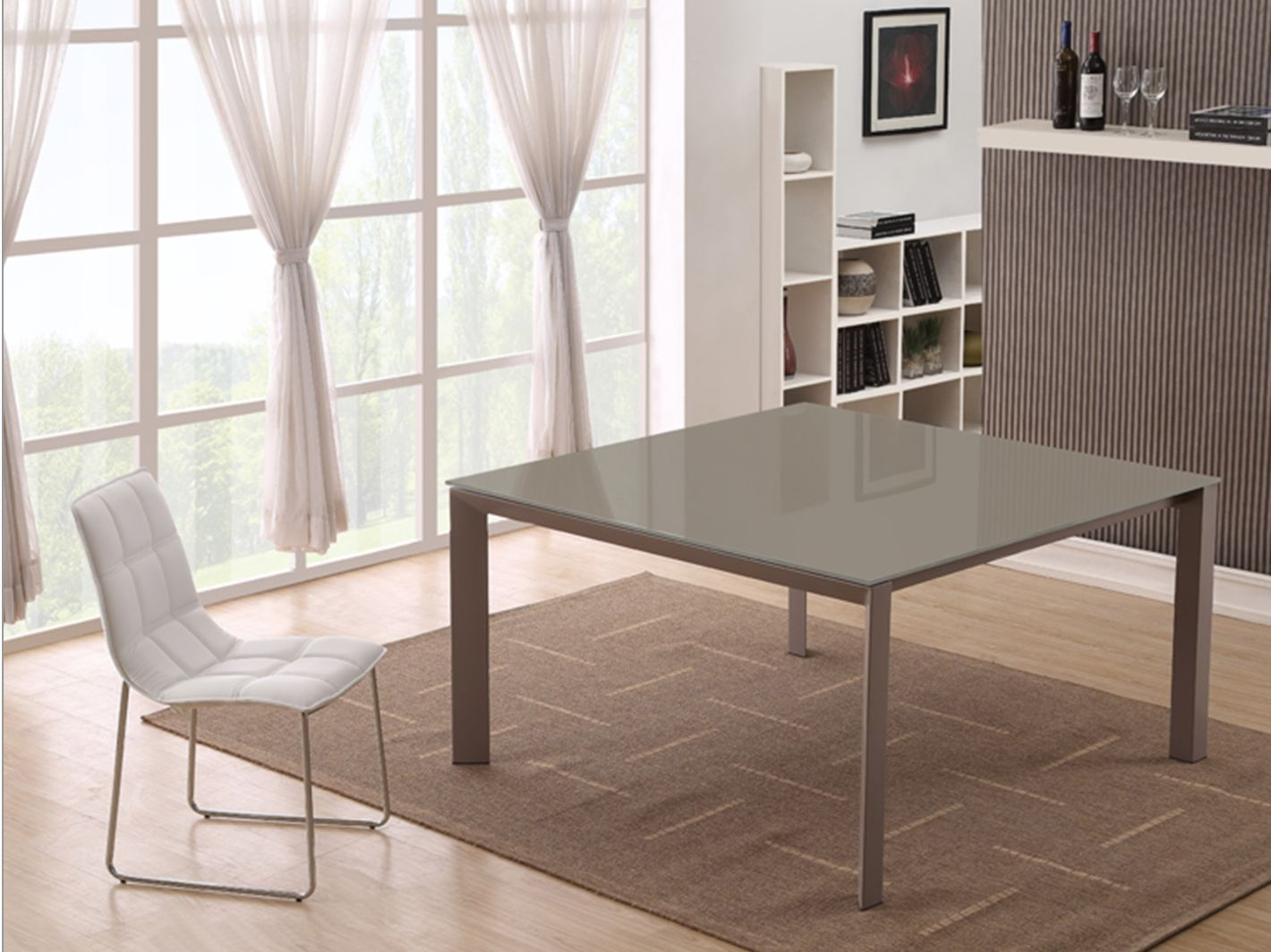 Napoli 55 Square Dining Tables Glass Dining Table Dining Table