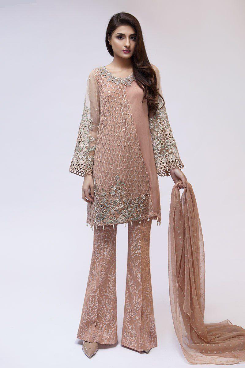 dd3a8a18cf Maria B Latest Evening Wear Dresses Beige Suit | Pakistani Dresses ...