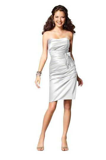 Alfred Angelo - White Bridesmaid Dress Satin